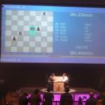 Anand - Kramnyik sakkvilágbajnoki döntő - parti közben
