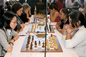 A magyar női csapat a 2008-as drezdai sakkolimpián